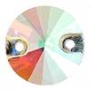 Crystal Sew-on Stone Round 10mm (5pcs) Crystal Aurora Borealis